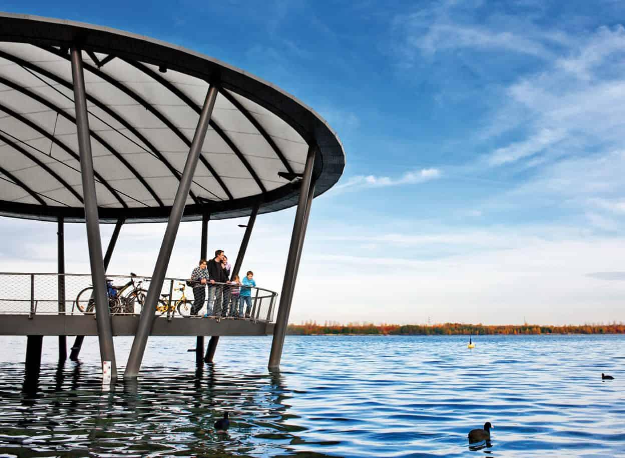 Die Seebühne am Blausteinsee